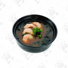 Asā Miso zupa ar garnelem